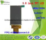 """3.0 """" écran de TFT LCD de 240X400 MCU, module d'affichage à cristaux liquides, Ili9327, 40pin avec l'écran tactile d'option"""