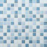 青いガラスモザイクMosaicoの中国の安いプールのモザイク