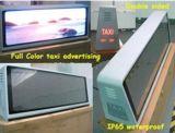 P5 taxi DEL annonçant l'étalage avec le panneau acrylique