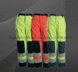 Pantalones reflexivos seguros calientes de la seguridad del trabajo del algodón de la tela cruzada de las cintas