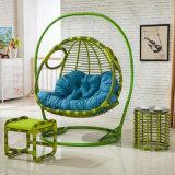 Стула качания комнаты стула яичка качания двойного места мебель Wicker живущий роскошная напольная (D155)