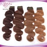 6# het Haar Peruviaanse Remy van de Golf van het Lichaam van de kleur Koningin Virgin Hair