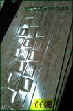 Peau de porte de moulage de HDF avec l'épaisseur de papier 3mm de mélamine 4mm