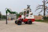 Certifié CE agricole Mini chargeuse sur pneus avec Balayeuse