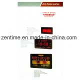 Big Size Red Emitting LED Wall Digital Clock com Controle Remoto para Exterior