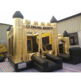 Customized Gold Tarpaulin Inflatable Castle Bouncer