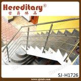 스테인리스 철사 밧줄 (SJ-H1726)를 가진 철사 밧줄 층계 방책 난간