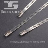 Tipo ataduras de cables de la escala del acero inoxidable con precio de fábrica