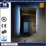 Specchio illuminato LED personalizzato di funzione di interruttore del sensore della stanza da bagno di formato