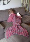 寝袋の人魚のテールかぎ針編み毛布