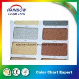 Cartão de papel colorido para pintura de pedra real