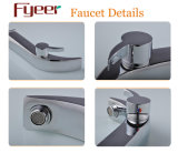 Fyeer High Arc Single Handle & Hole Chrome Banheiro Sink Wash Basin Faucet Water Mixer Tap