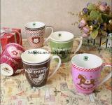 Сердца влюбленности таможни 12oz кружки кофеего керамического декоративные
