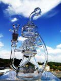 Großverkauf 8 Zoll-rauchendes Wasser-Glasrohr mit Inline-Recycler