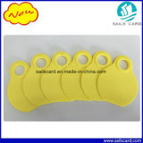 黄色い視覚動物の首の札