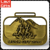 Progettare la medaglia per il cliente corrente di Sprot del metallo dell'oro