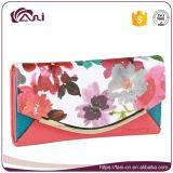 最新のデザイン、エンベロプの花プリントPUの財布の習慣の2017の女性財布