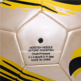 Bille de football jaune touchée molle de plage de PVC de 32 panneaux