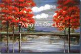 풍광 나무의 가정 훈장 유화 화포 색칠