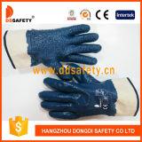 Рабочие Перчатки Вельветовые Защитные с Нитрилом (DCN511)