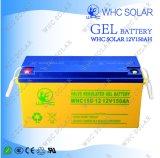 Whc 24V e bateria de 12V 150ah para o sistema de energia solar em África