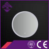 LED retroiluminado pantalla táctil de PVC marco baño espejo con reloj