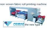 El mejor precio del alto rendimiento del rodillo de seda no tejido automático para rodar la impresora de la pantalla