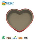 O coração da aprovaçã0 do FDA deu forma ao molde de Bakeware do bolo do silicone