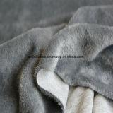 灰色カラーの極度の柔らかく短いプラシ天