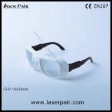 9000-11000nm CHPのレーザーの安全ガラス/レーザーの防護眼鏡の大会のセリウムEn 207