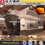 La pallina della biomassa ha infornato la caldaia a vapore di viaggio della griglia per Factroy di carta