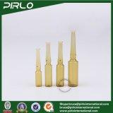 Bernsteinfarbige Ampullen-Glasflaschen-pharmazeutische Gebrauch-Medizin-Flüssigkeit-Flasche der Qualitäts-1ml 2ml 3ml 5ml