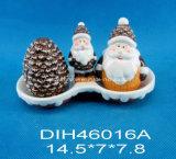 Agitatori di ceramica dipinti a mano di Salt&Pepper con la maniglia della Santa