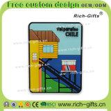 Kundenspezifische Hauptdekoration-fördernde Geschenk-Silikon-Kühlraum-Magnet-Andenken Chile (RC-CL)