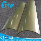 Streef het Korrel Gebogen Bekledingspaneel van de Muur van het Aluminium Stevige Voor Pijler na