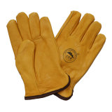 Перчатки Gardon зимы перчаток водителя руки безопасности кожи с сохранённым природным лицом коровы теплые с полной подкладкой