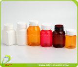 [60مل] [بروون] الطبّ زجاجة بلاستيكيّة مع غطاء ذهبيّة