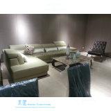 Sofa moderne de coin de L-Forme de maison de type avec le cuir d'unité centrale (611S)
