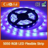Indicatore luminoso di striscia flessibile di 5m 300LEDs RGB DC12V SMD5050 LED