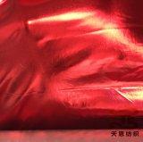 Goud die de Stof van de Polyester Foiling voor de Stof van de Kleding van het Stadium van Foiling van het Kledingstuk stempelen