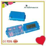 Замок отметчика времени коробки пилюльки памятки сигнала тревоги цифров отсеков лекарства 6