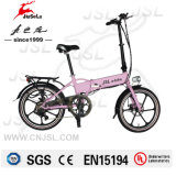 Bicis eléctricas plegables de la aleación de aluminio del color de rosa del freno de disco del Ce (JSL039BL-4)