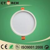 Ctorch 12W amincissent la lampe ronde en plastique de Ceing de voyant