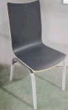 Venta caliente no plegable Bentwood colorido comedor silla