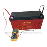 50%Dod 1500cycle mide el tiempo de la batería 12V100ah (HTL12-100AH) del gel de la larga vida