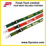 Lanière promotionnelle de polyester de produits avec le logo estampé