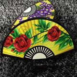 普及したFan-Shaped女性イブニング・バッグの印刷の花のセクターの女性袋Eb653
