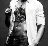 etiqueta engomada temporal impermeable del tatuaje del brazo de los hombres de la pista del tigre 3D