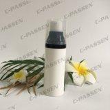 Botella privada de aire de los PP del plástico blanco con el casquillo claro para el empaquetado del cosmético (PPC-PAB-037)