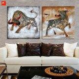 Peinture à l'huile Handmade Wall Picture Bull
